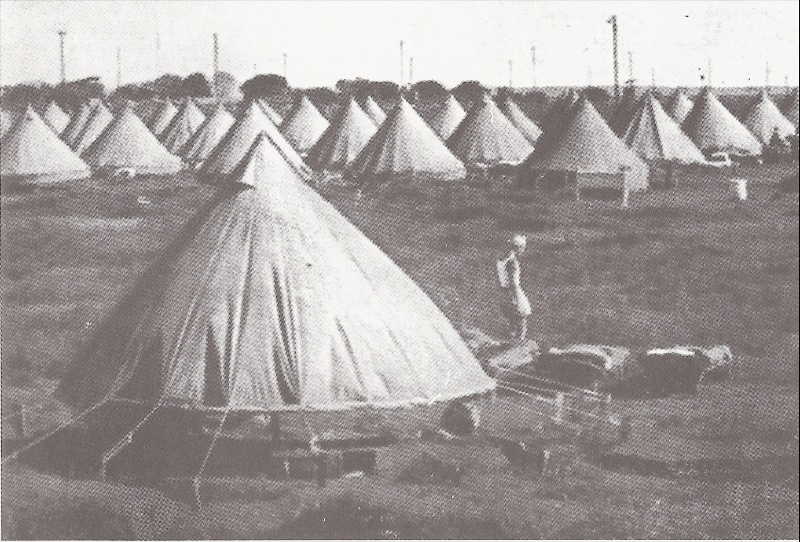 Tents of the first period 1941 - 1942